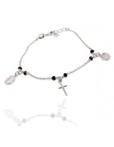 Bracciale rosario Argento...