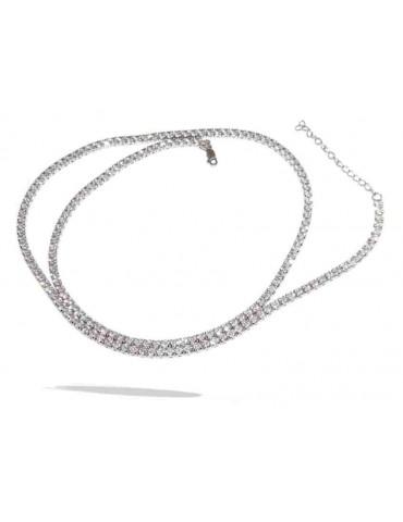 Nalbori | collana tennis argento 925 con zirconi lunga