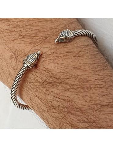 NALBORI Cable bracciale aperto argento 925 con aquila N1403
