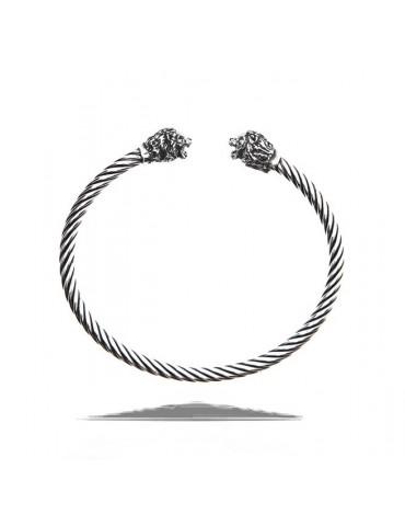 NALBORI Cable bracciale argento 925 con leone - N1406