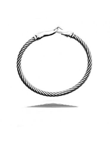 Cable di NALBORI bracciale argento 925 a gancio 18 cm