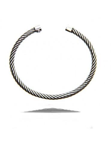 NALBORI Cable open rigid cable bracelet