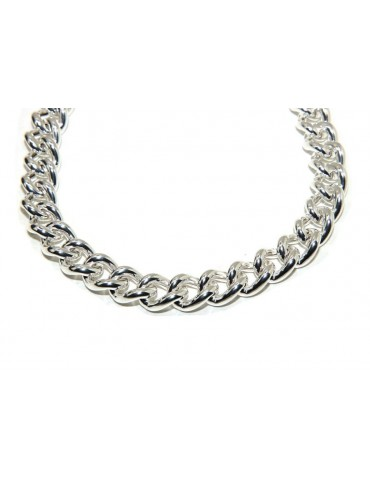 NALBORI 925 silver necklace or bracelet 12.5 mm large curb