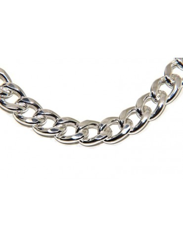 NALBORI catena Collana o bracciale donna grumetta diamantata grande 13 mm argento 925