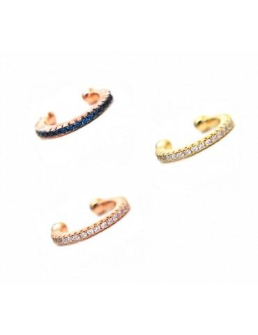 trago argento 925 zirconi colorati senza foro bagno oro giallo rosa NALBORI