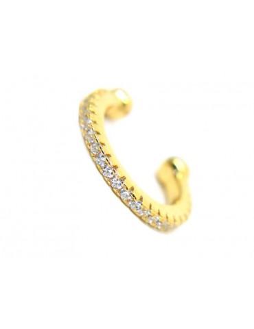 trago cerchio argento 925 zirconi colorati senza foro bagno oro giallo rosa