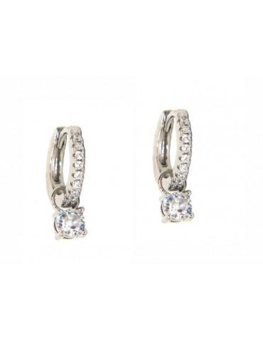 NALBORI orecchini con ciondoli che si tolgono argento 925 zirconi e punto luce diamonds
