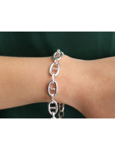 NALBORI Collana o bracciale Maglia marina 10x16 argento 925