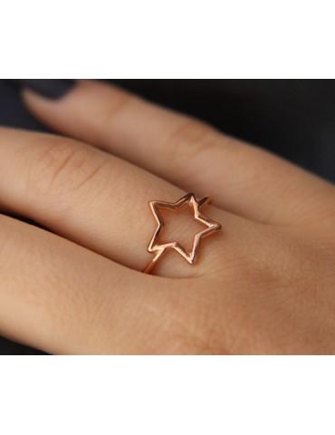 NALBORI Anello donna stella regolabile in argento 925