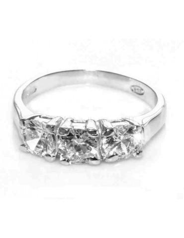 anello argento 925 Trilogy con zirconi da 0,5 - A0205