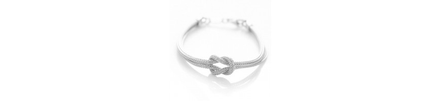 Catégorie Node - NALBORI : 925: bracelet fox tail double wire with square knot for men and women from 15 to 21 cm , 925: brac...
