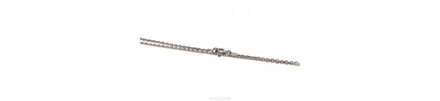 Catégorie Klassica - NALBORI : SILVER 925: Necklace or long clear marine link bracelet 6x8, for men or women , 925: woman bra...