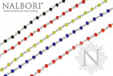 Marsala line of NALBORI necklaces and bracelets with intertwined crystals